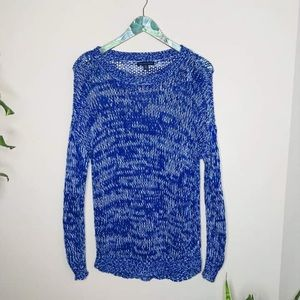 American Eagle Outfitters Blue Sweater Tunic Dress